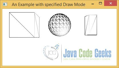 Using specified Draw Mode for 3D Shapes