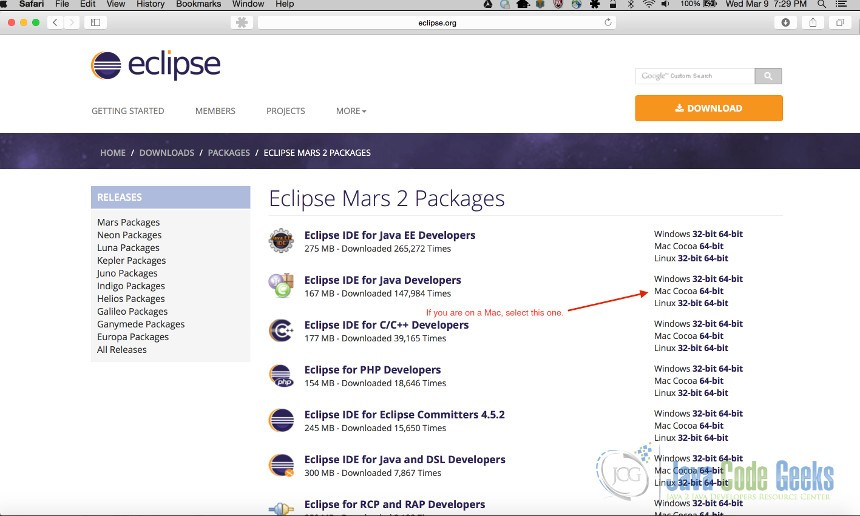 eclipse ide for java developers free download for mac