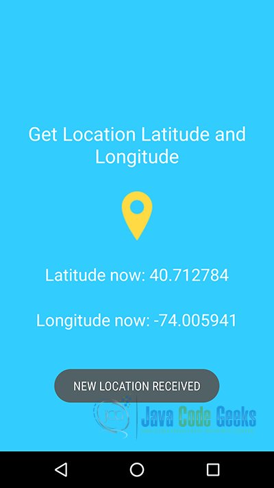 Android Location API using Google Play Services Example | Examples