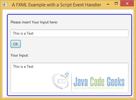 A JavaFX FXML Example with a JavaScript Event Handler