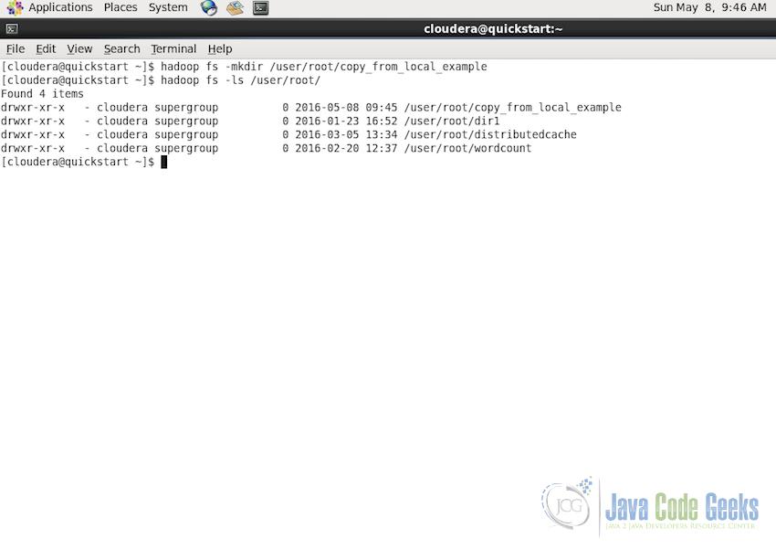Hadoop CopyFromLocal Example | Examples Java Code Geeks - 2019