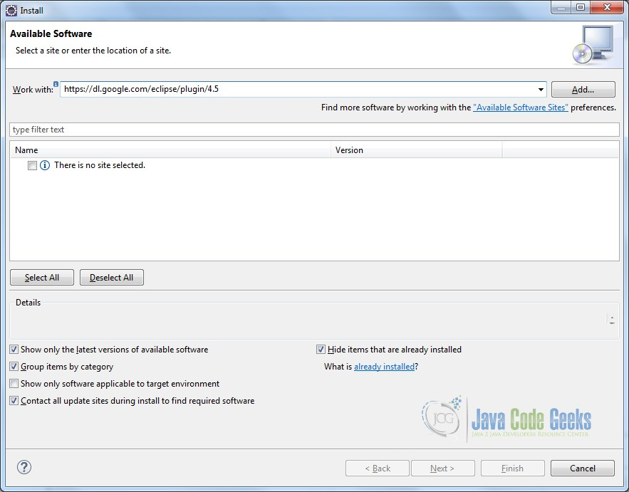 Installing Google Plugin - Step 2