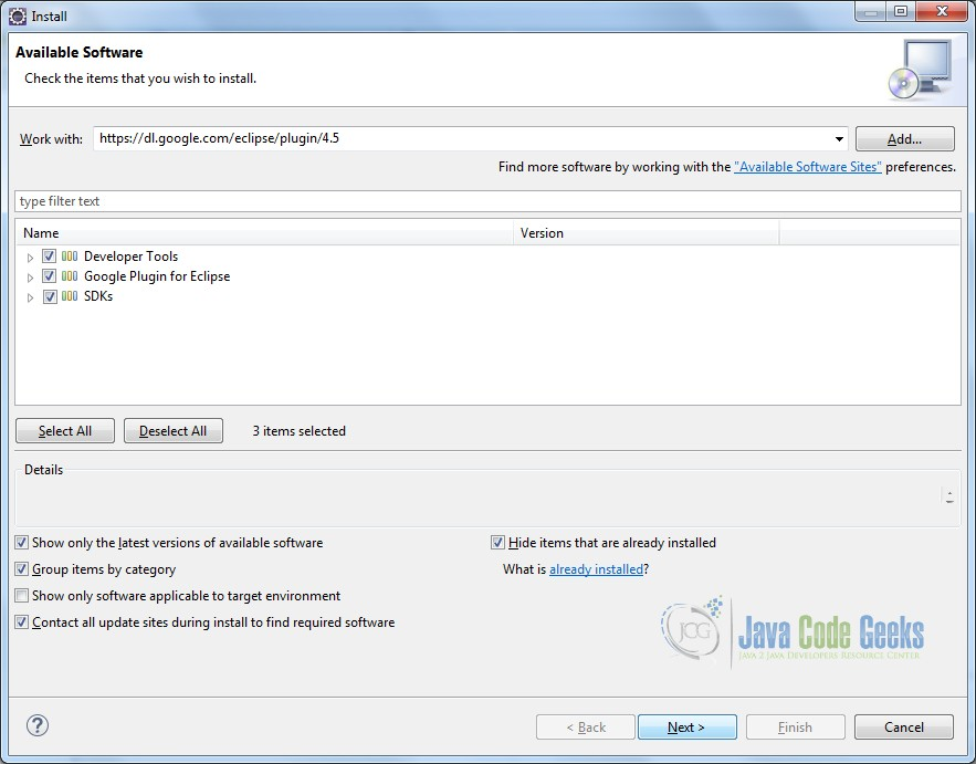 Installing Google Plugin - Step 4