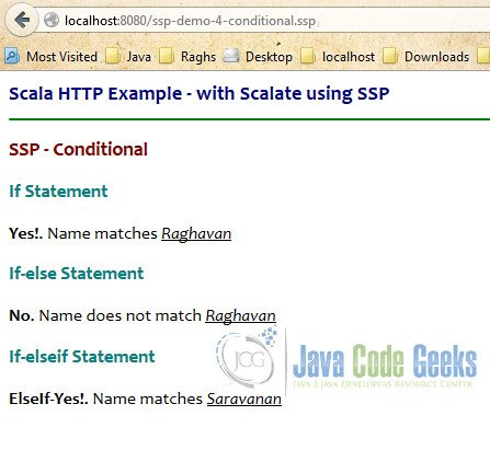 SSP Conditionals - Output