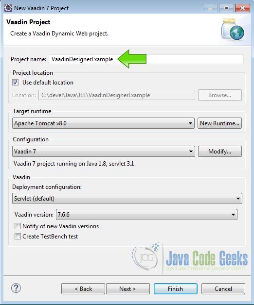 Vaadin Visual Designer Example | Examples Java Code Geeks - 2019