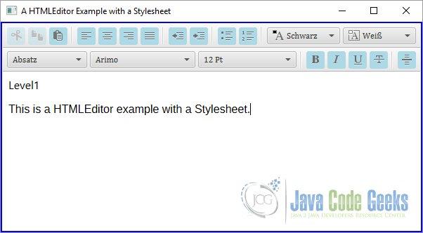 JavaFX HTML Editor Example | Examples Java Code Geeks - 2019
