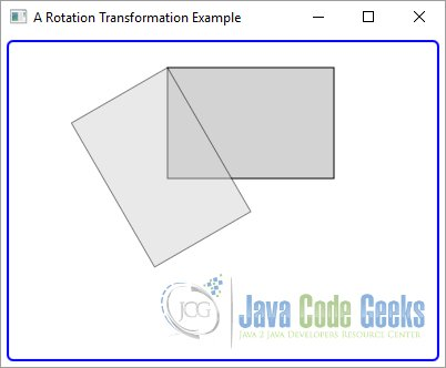 A JavaFX Rotation Transformation Example