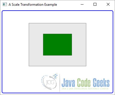 A JavaFX Scale Transformation Example