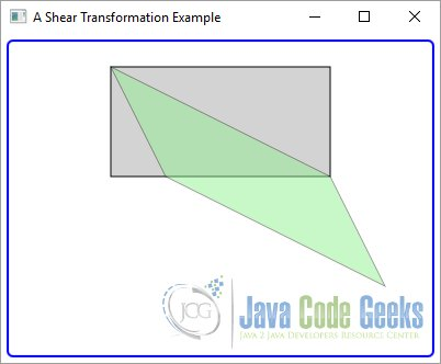 A JavaFX Shear Transformation Example