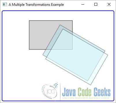 A JavaFX Multiple Transformation Example