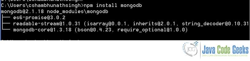 MongoDB Node js Tutorial | Examples Java Code Geeks - 2019