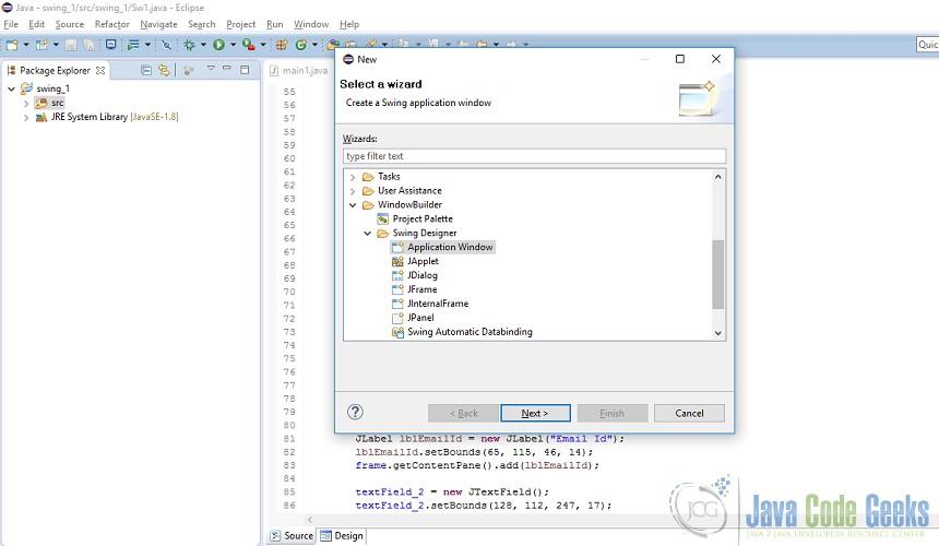 JAVA Swing Form Example | Examples Java Code Geeks - 2017
