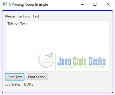The JavaFX Print API | Examples Java Code Geeks - 2019
