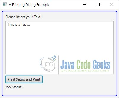 Javafx Printer