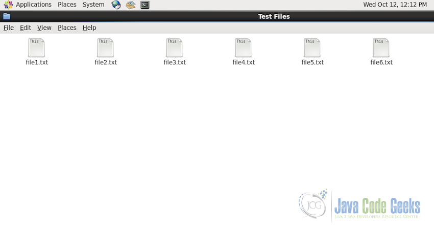 TestFiles folder with 6 test files.