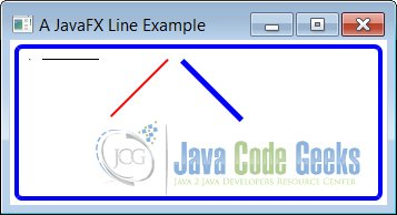 A JavaFX Line Example