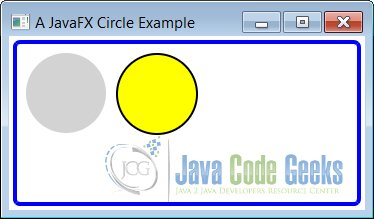 how to draw a circle in javafx
