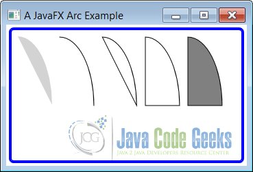 A JavaFX Arc Example