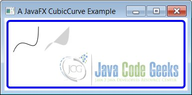 A JavaFX CubicCurve Example