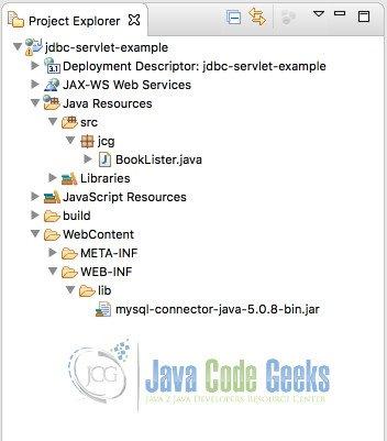 Jdbc Servlet Example Examples Java Code Geeks 2018