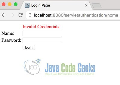Java Servlet Authentication Example | Examples Java Code Geeks - 2019