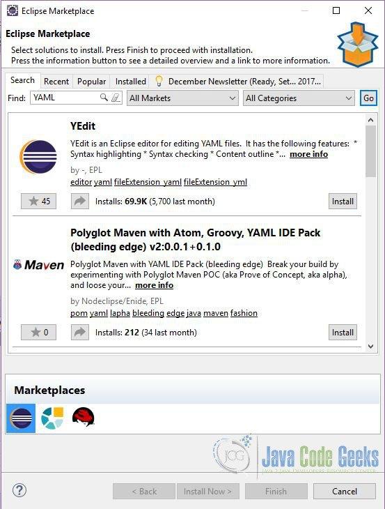 Eclipse Yaml Editor Tutorial | Examples Java Code Geeks - 2019
