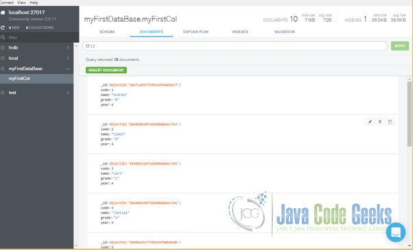 MongoDb Aggregate Count Example   Examples Java Code Geeks