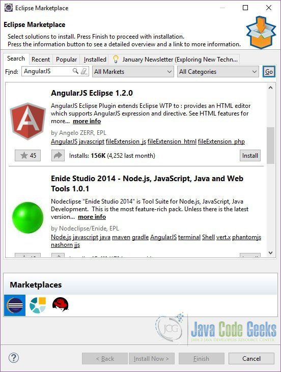 Eclipse IDE AngularJS Tutorial | Examples Java Code Geeks - 2019