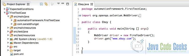 Selenium Tutorial for Beginners | Examples Java Code Geeks