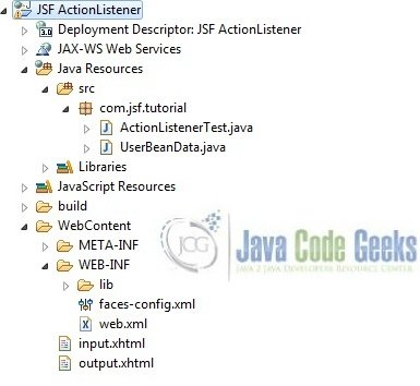 jsf-actionlistener-application-project-structure