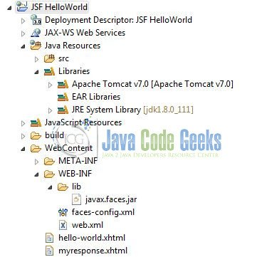 JSF Example with Eclipse and Tomcat | Examples Java Code