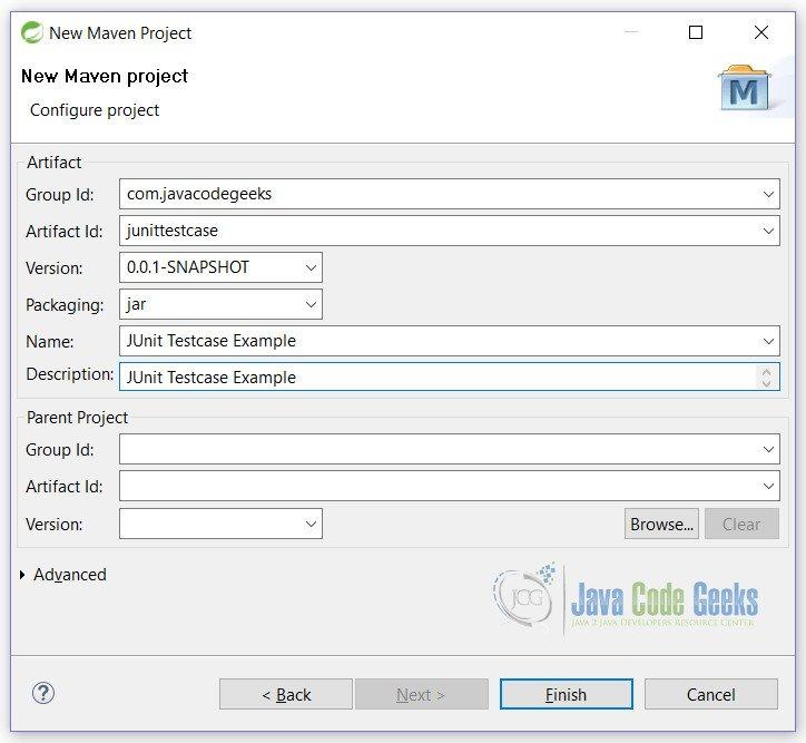JUnit Testcase Example | Examples Java Code Geeks - 2017