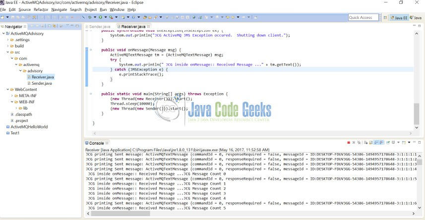 Apache ActiveMQ Advisory Example | Examples Java Code Geeks