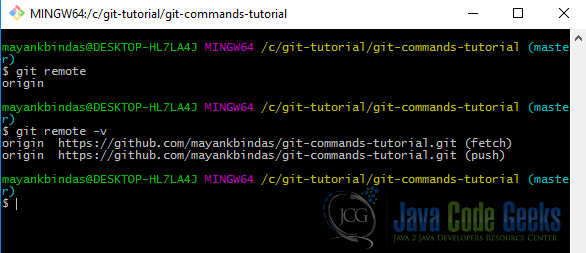 Git Commands Tutorial | Examples Java Code Geeks - 2019