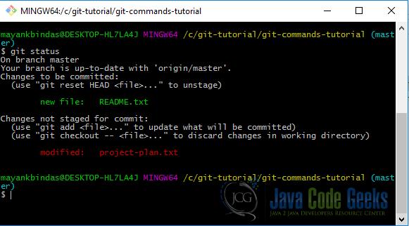 Git Commands Tutorial Examples Java Code Geeks 2018