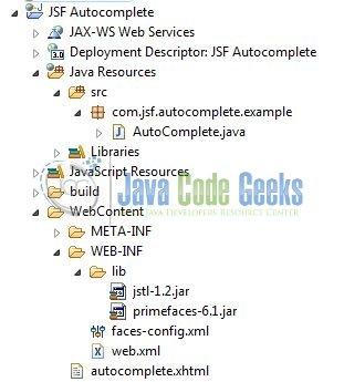 JSF Autocomplete Example | Examples Java Code Geeks - 2019