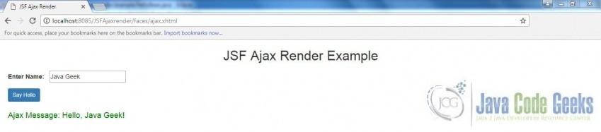 JSF Ajax Render Example   Examples Java Code Geeks - 2019