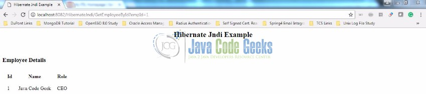 Hibernate JNDI Example | Examples Java Code Geeks - 2019
