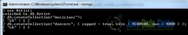 Fig. 6: MongoDB Creation Collection with Options Output
