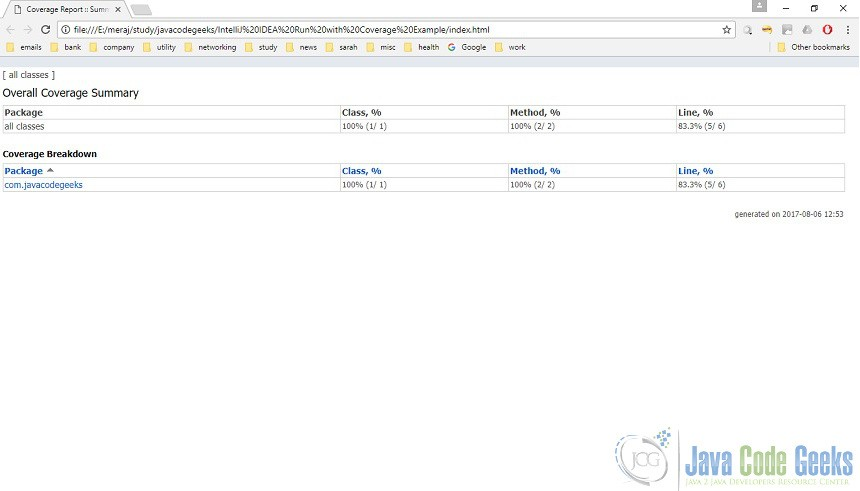 IntelliJ IDEA Run with Coverage Example | Examples Java Code Geeks