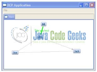 Fig. 3: Application (View.java) Output