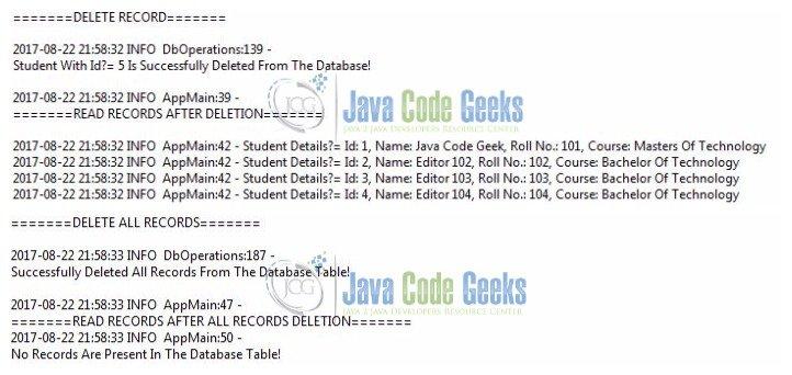 Hibernate CRUD Operations Tutorial   Examples Java Code Geeks - 2019