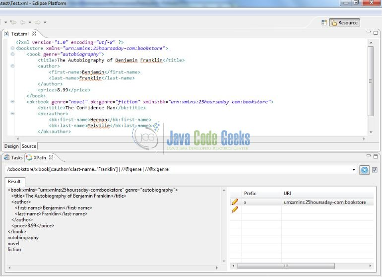 Fig. 3: Eclipse XPath Evaluation Plugin