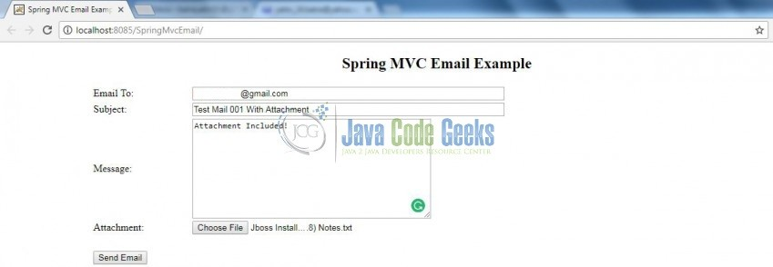 Sending Email With Spring MVC Example | Examples Java Code Geeks - 2019
