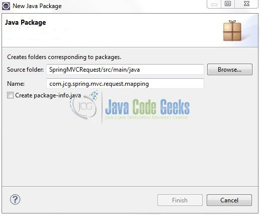 Fig. 8: Java Package Name (com.jcg.spring.mvc.request.mapping)