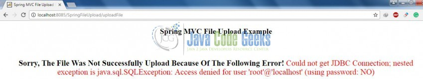 File Upload and Database Persistence with Spring Framework