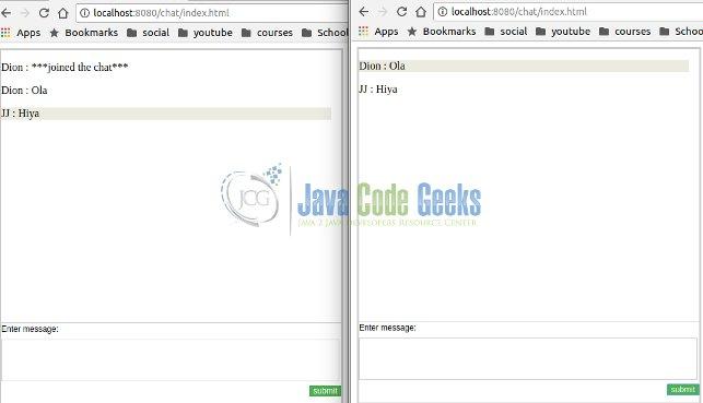 Java Servlet Websocket Example | Examples Java Code Geeks - 2019