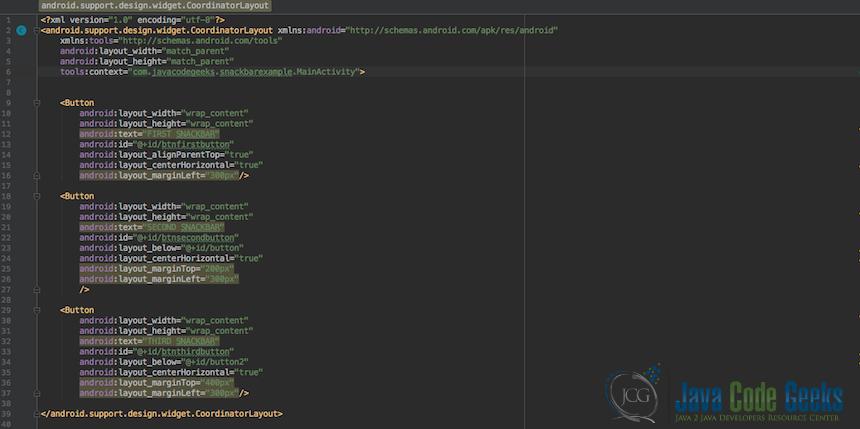 Android Snackbar Example   Examples Java Code Geeks - 2019