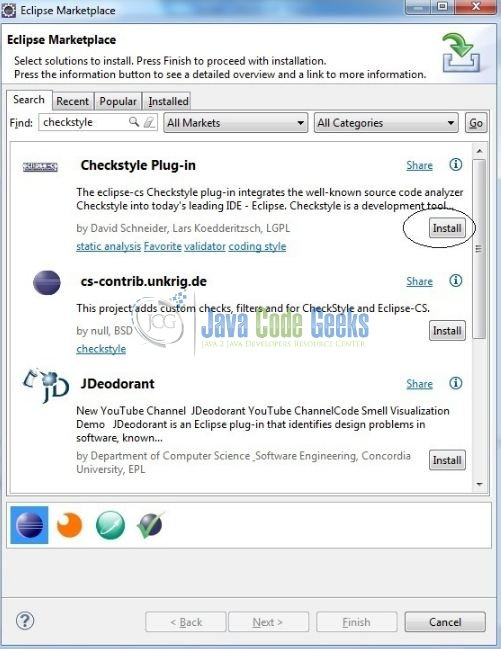 Fig. 1: Eclipse Marketplace