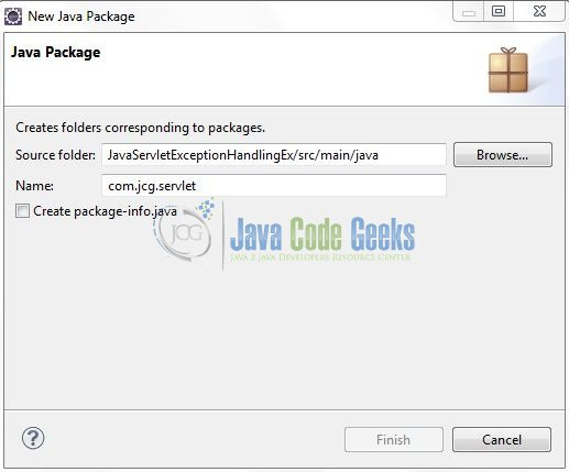 Fig. 7: Java Package Name (com.jcg.servlet)